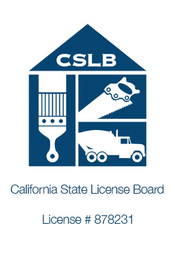 California State Licence Board logo and no